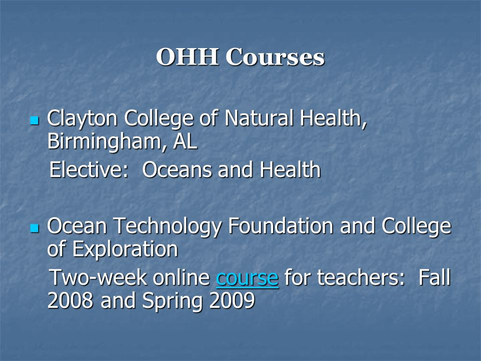 Disciplines Involved in OHH Health Health Social Studies Social Studies Politics Politics Economics Economics Technology Technology Geography Geography