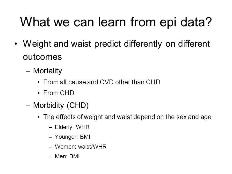 Prospective considerations Age and sex would be better stratified in future research regarding obesity and CVDs.