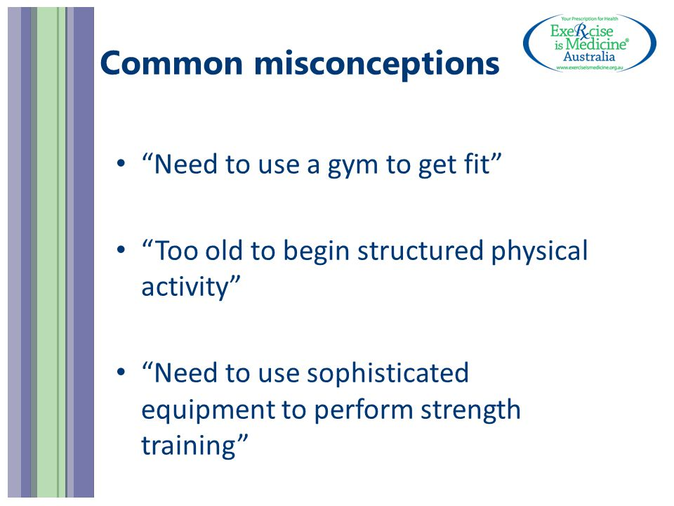 Provide options Physical activity advice (factsheets)factsheets AND Specific exercise prescription OR Referral if required (EIM prescription form)EIM prescription form Your details here