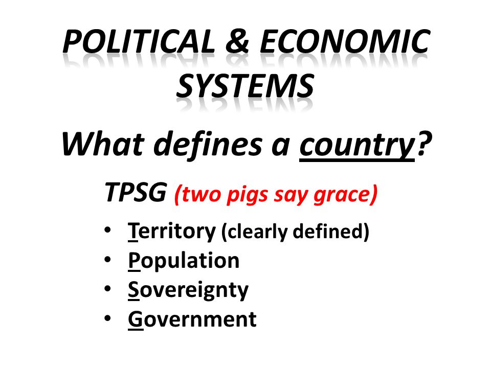 Territory Includes land, water, and natural resources Geography influences a nation's power to control territory