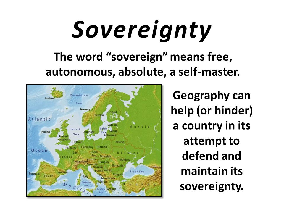 Why is sovereignty such a big issue in today's world? Check out today's headlines
