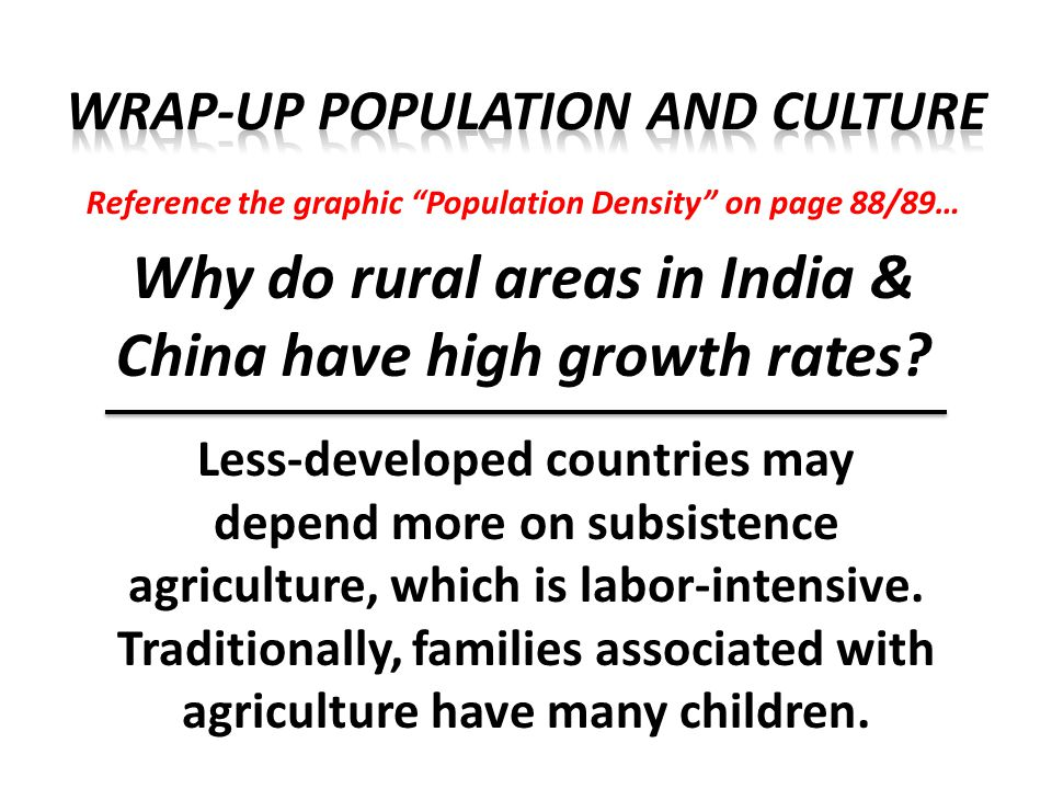 Reference the graphic World Population Growth on page 91… Why has population growth dramatically increased over the past 200 years.