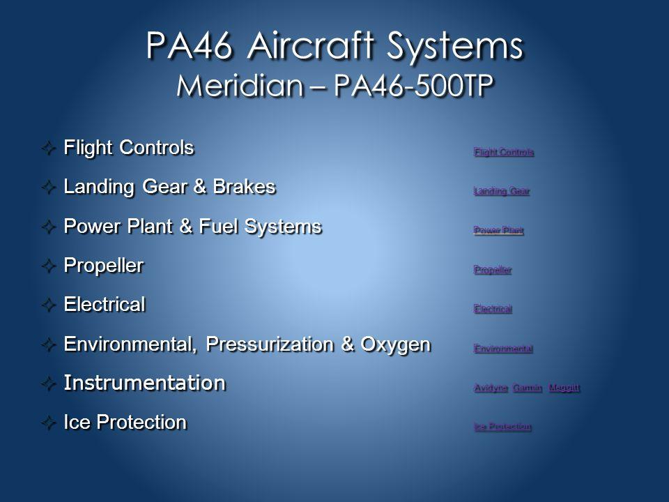 PA46 Performance  Take-off Performance  Climb Performance  Cruise Performance  Landing Performance
