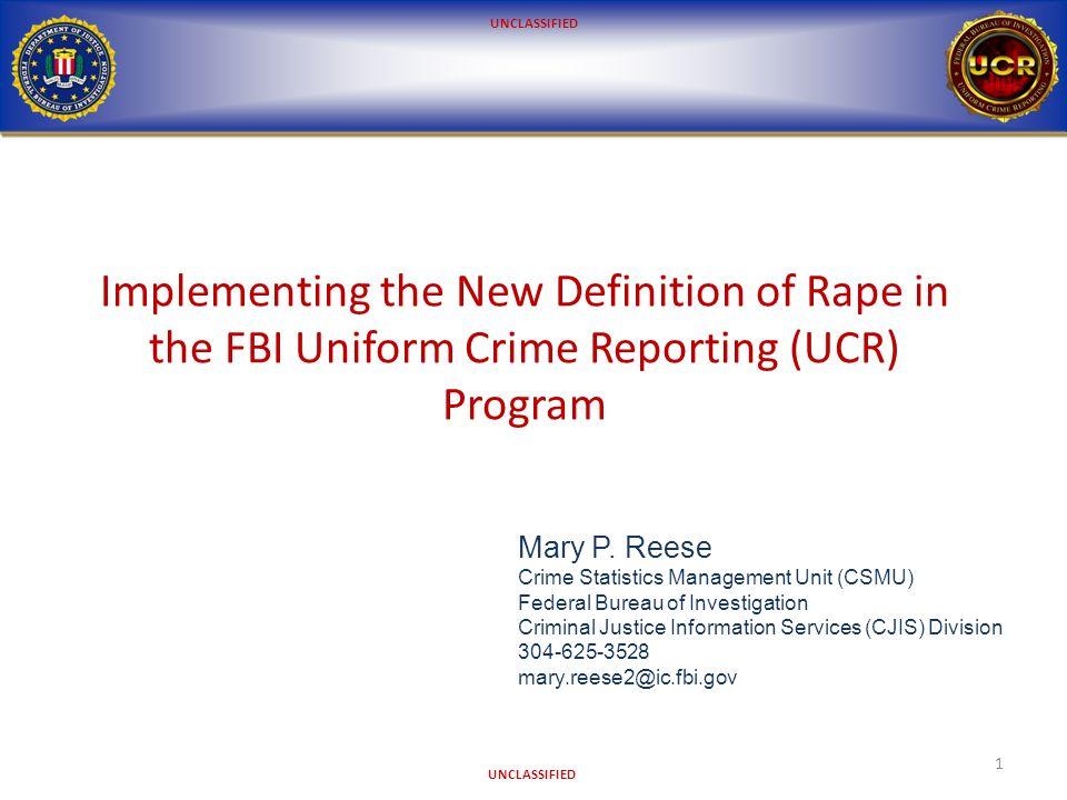 UNCLASSIFIED The FBI UCR Program The program collects crime statistics data from law enforcement agencies (LEAs) across the nation in two primary formats: Summary Reporting System (Summary) National Incident-Based Reporting System (NIBRS) 2