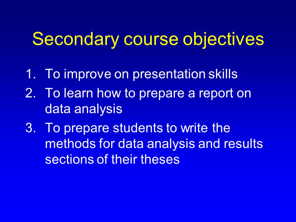 Course philosophy This course will use a problem-based learning approach to multivariate statistical techniques.