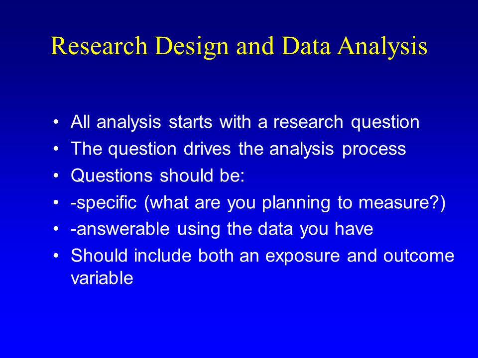 Methodological Considerations: Exposure and Outcomes Exposure No exposure Outcome No outcome Causal pathway