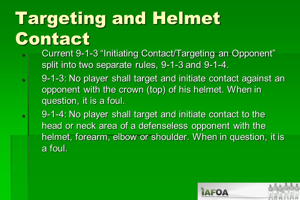 Interference/Game Admin Interference If coaches, substitutes or other team personnel are in your way and you need to move to avoid them: If coaches, substitutes or other team personnel are in your way and you need to move to avoid them:  And they are in the 6 ft restricted area, and there is: No contact: Sideline Interference (5/5/15) No contact: Sideline Interference (5/5/15) Contact: Illegal Interference, dead ball, 15 yards.