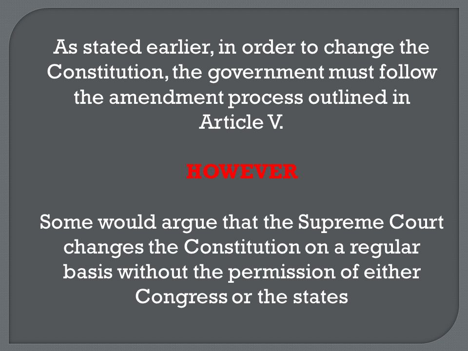 Where does the Constitution say that the Supreme Court has the power to interpret the Constitution and declare laws either constitutional or unconstitutional?