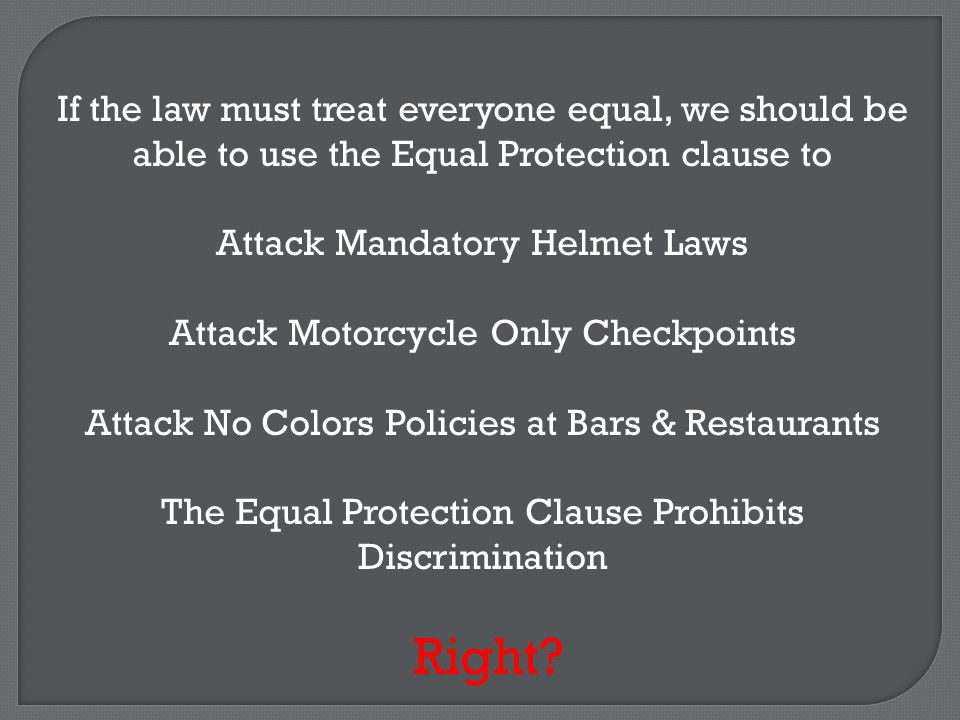 As interpreted by the US Supreme Court, the Equal Protection Clause Neither Prohibits Discrimination Nor Demands Everyone Be Treated Equally