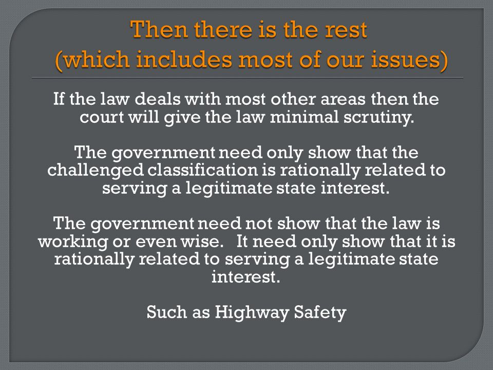 Are mandatory helmet laws rationally related to highway safety.