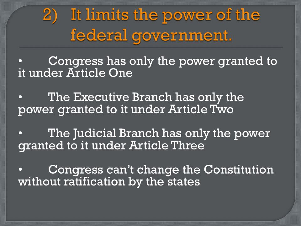 It does not grant rights either (other than the 6th & 7th Amendments).