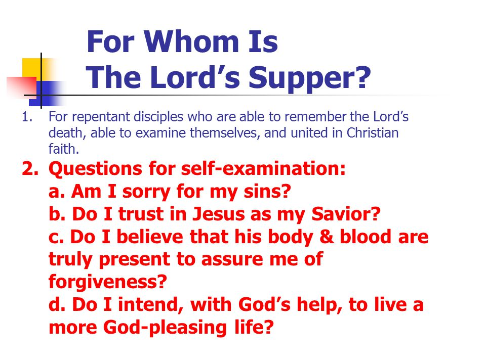 For Whom Is The Lord's Supper.3.
