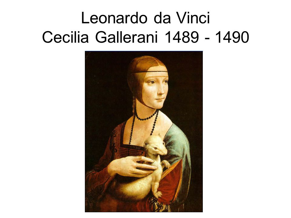 The Lady with the Ermine was painted in oils on wooden panel Cecilia Gallerani was the mistress of Leonardo s employer, Lodovico Sforza At the time of her portrait, Cecilia was about sixteen.