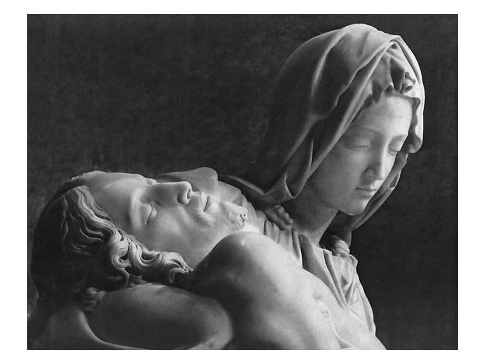 Pieta Pieta means 'Pity,' and this is certainly the emotion that this magnificent sculpture evokes.