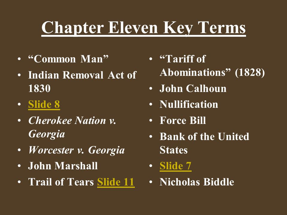 Chapter Eleven Key Terms Daniel Webster Henry Clay Whig Gamble Pet Banks Male/Female Spheres Trade Apprenticeship Second Great Awakening Temperance Movement New York Reform Society The Liberator William Lloyd Garrison Abolitionism