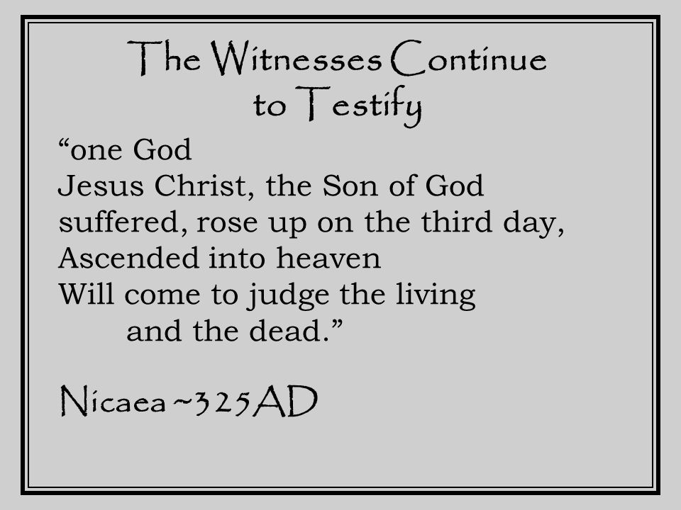 The Witnesses of the Canon Gospels Acts of the Apostles Epistles of Paul Jude John's Epistles Apocalypse of John Muratorian Fragment ~200AD