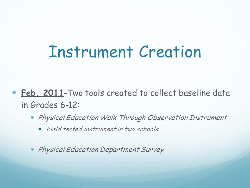 Instrument Creation Feb.