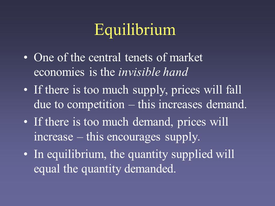 Breaking an Equilibrium There are many things that can keep a market from equilibrium –Lack of sellers (monopoly/oligopoly) – Lock-in among buyers –Incomplete or slow-moving information –Collusion among (usually) sellers or buyers –External price controls –Etc.