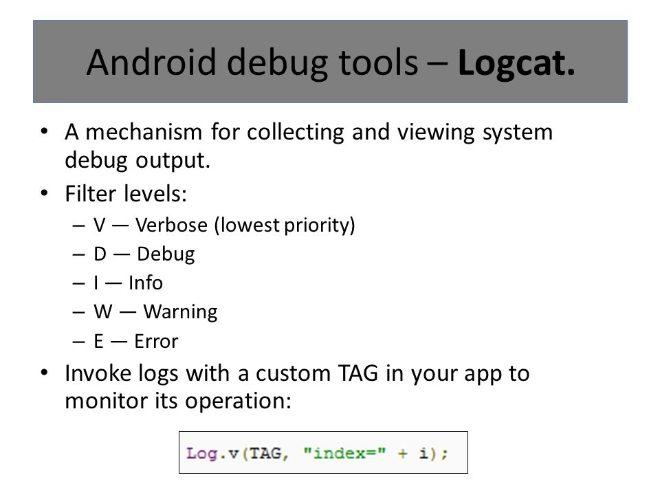 Displays the View objects that form the UI of the Activity that is running on your device or emulator.