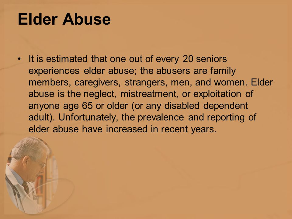 Reporting Requirements A majority of states now mandate reporting of elder abuse.