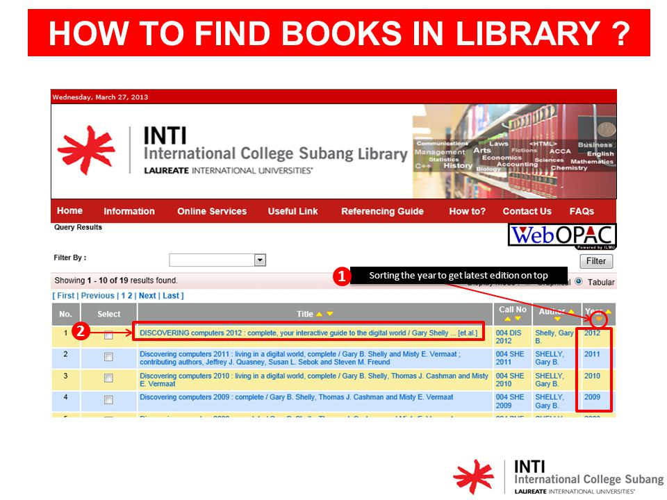 HOW TO FIND BOOKS IN LIBRARY ? Circulated = Borrowed Spine label