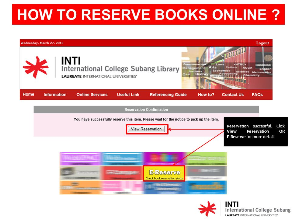 Status will change to AWAITING COLLECTION when the book is returned.