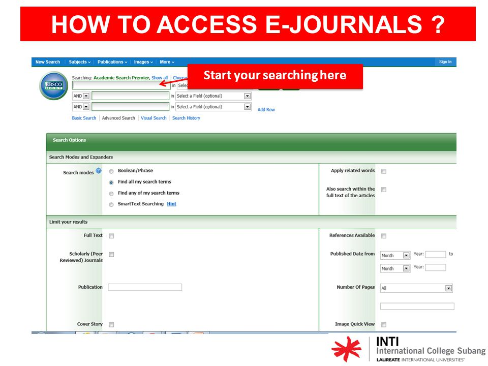 HOW TO ACCESS E-JOURNALS ? Please logon using username and password are given in EZProxy
