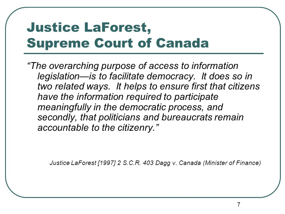 8 FOIP: Rights of Access FOIP and LAFOIP provide every person a right of access to records in the possession or under the control of a provincial government institution or a local authority, subject to certain exemptions.