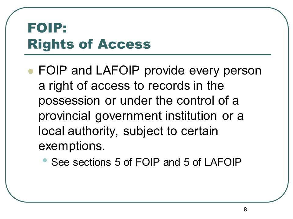 9 FOIP: Definition of Record Section 2(1)(i) of FOIP and 2(j) of LAFOIP define a record as: …a record of information in any form and includes information that is written, photographed, recorded or stored in any manner, but does not include computer programs or other mechanisms that produce records.