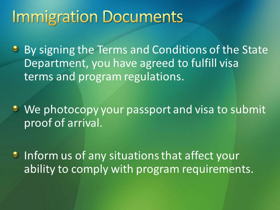 Authorization to State Department to use your image or voice in regard to the program.