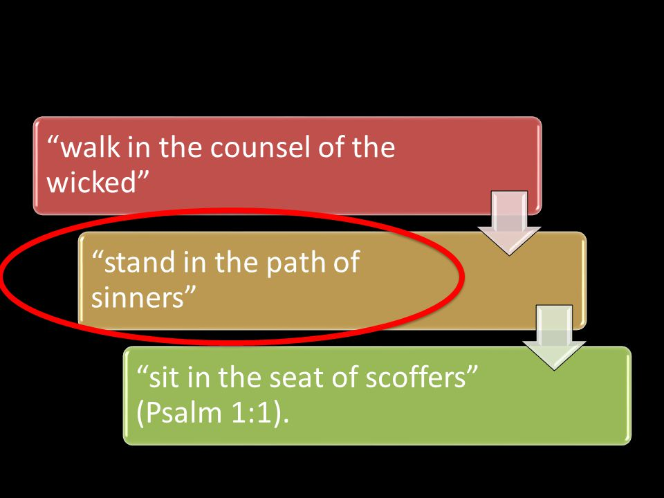 Standing in their path is to occupy their ground Disaster pursues sinners, but the righteous are rewarded with good.