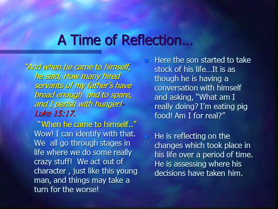 Ultimately, the choice Is Our..n Take time to reflect...