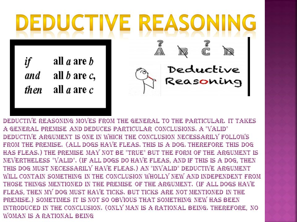 Sources of Deductive Premises If one believes all the premises in a valid deductive argument, he must believe the conclusion.