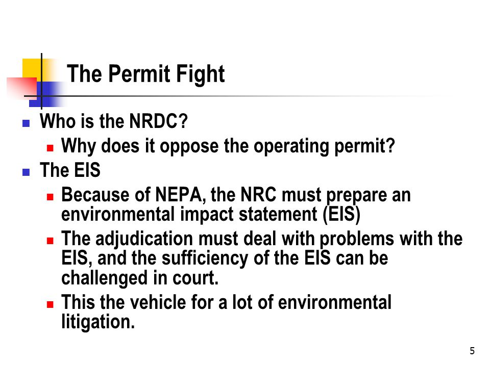 Nuclear Waste and the EIS Why is nuclear waste disposal a big issue for NEPA.