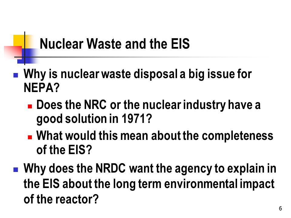 Avoiding the Issue What does the NRC do to avoid making this a subject of the hearing.