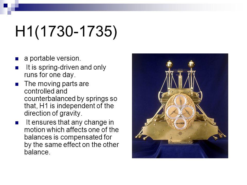H2(1737-1740) Fundamentally the same design as H1.