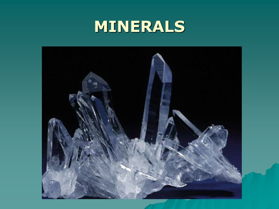 BIG Idea:  Minerals are an integral part of daily life. –What exactly does 'integral' mean?