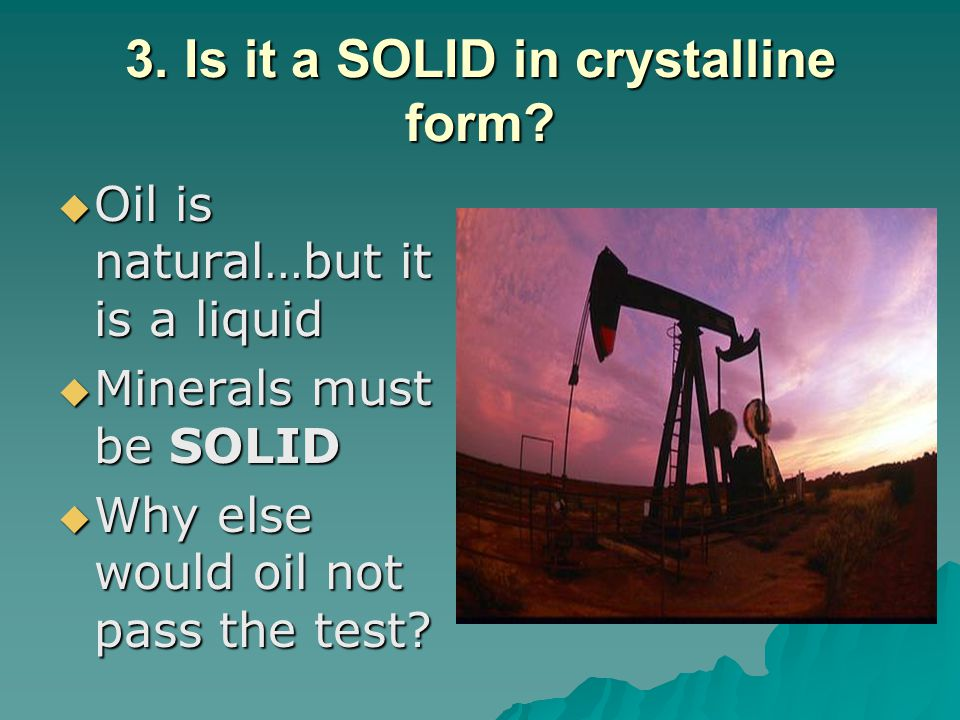 4.Does it have a definite chemical composition.