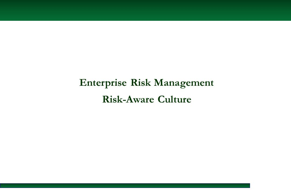ERM – Risk Aware Culture ERM Tone Established by Board of Directors and Senior Management  ERM roles and responsibilities clearly defined  Define risk profile, risk appetite and risk tolerance parameters  Mission, Strategic Planning and ERM documents shared with all employees  Executive compensation includes ERM objectives / results  Financial results and risk management initiatives reviewed with employees 11 ERM Tone Established by Board of Directors and Senior Management