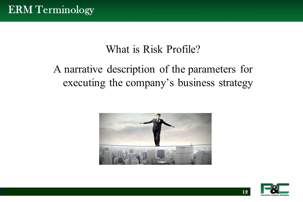 ERM Terminology What is Risk Appetite.