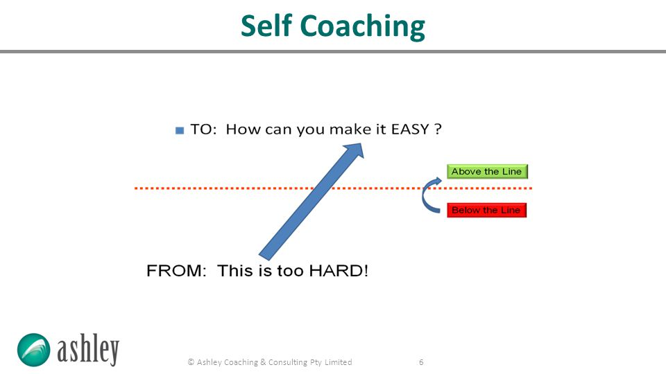 © Ashley Coaching & Consulting Pty Limited 7 5:1 Positive to Negative Ratio