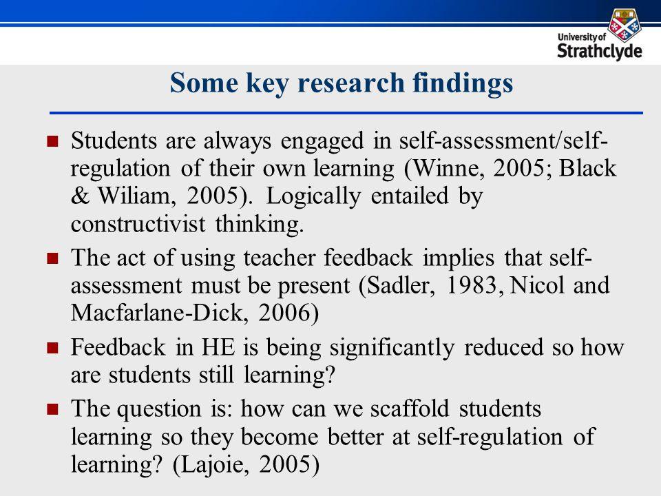 Scaffolding self regulation: 7 principles of good feedback 1.