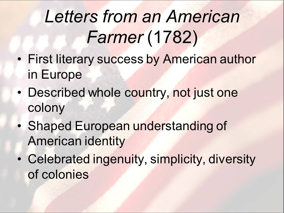 What is an American? From Letters from an American Farmer