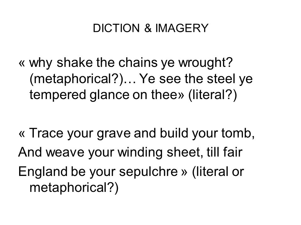 GRAMMAR: Verbs present tense Imperatives & shift in tone: Sow, find, weave, forge (stanza 5)...