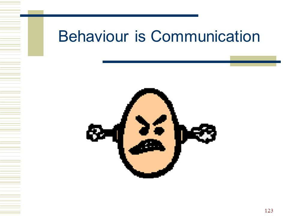 124 We need to understand WHY the behaviour is occurring BEFORE we can properly respond to the behaviour.