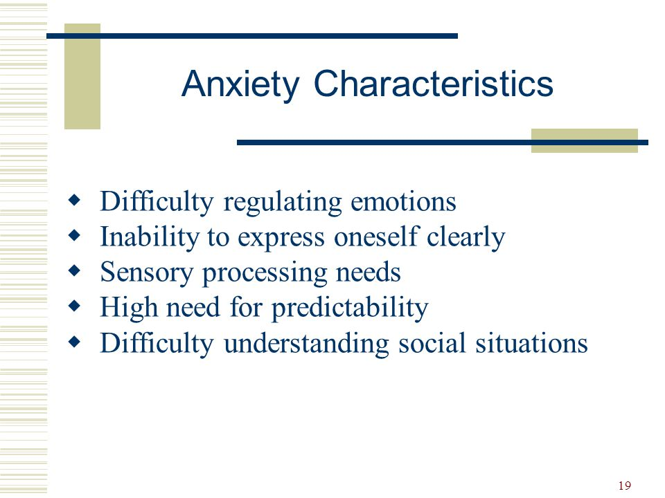 20 Implications for Instruction Ideas and Examples  Unusual behaviours  Attention  Sensory responses  Anxiety