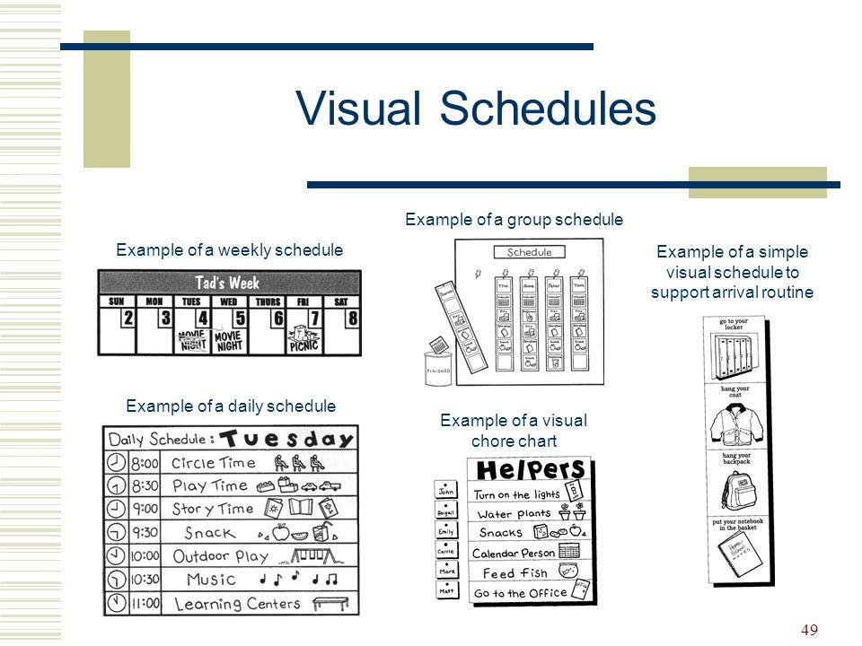 50 Visual Schedules Desk Strip