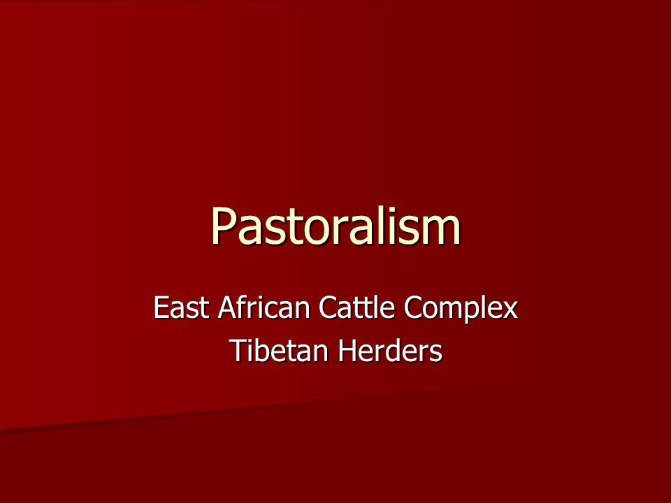 Cattle Complex E.African Cattle Area E.