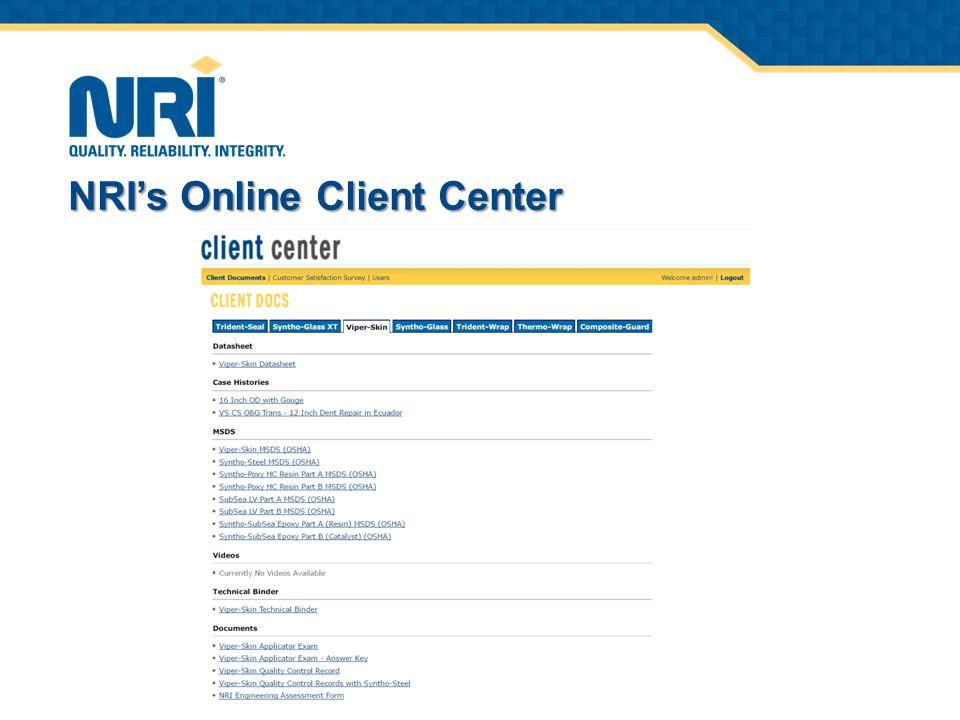 NRI's Online Training & Testing Center