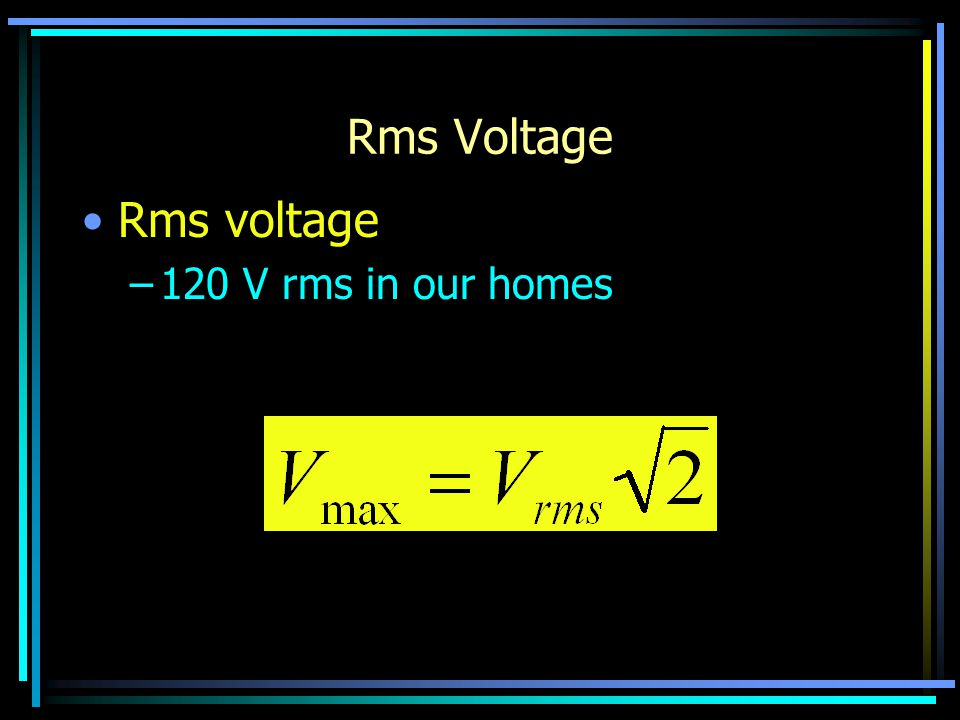 Ohm's Law In An ac Circuit Ohm's Law is valid for resistors in ac circuits.